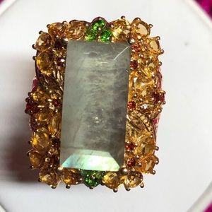 Stunning Labradorite Sterling Silver Ring
